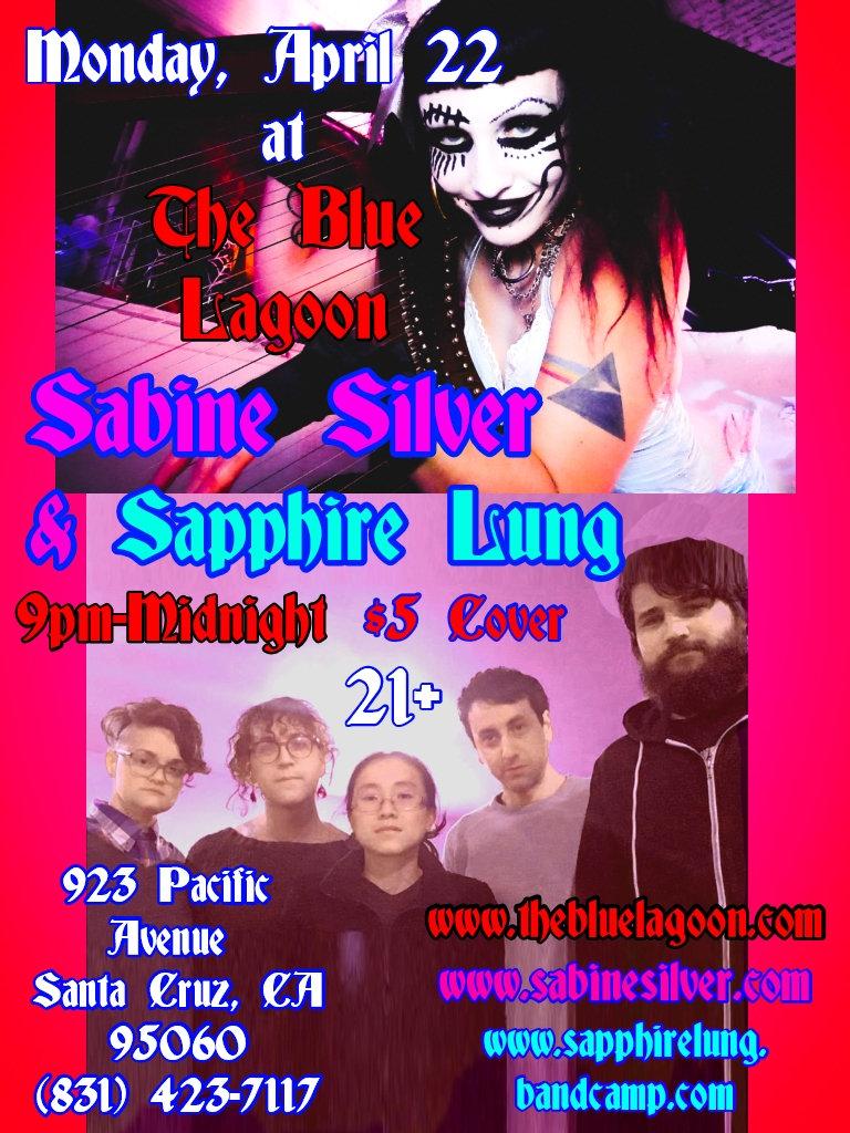Sabine Silver Sapphire Lung blue Lagoon