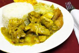 Curry chicken tray