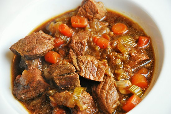 Beef stew tray
