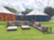 colourful tent, pukka tents, tent hire, exeter