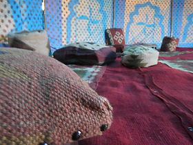 indian cushions, tent hire, colourful tent