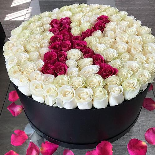 букет роз с днем рождения