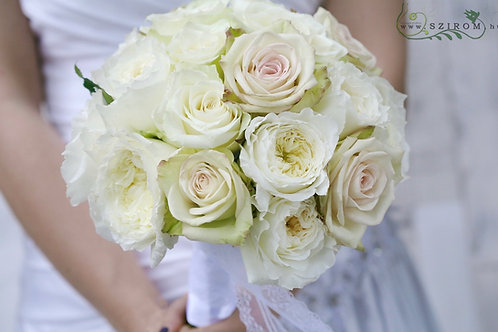 Свадебный Букет невесты из пионовидных роз