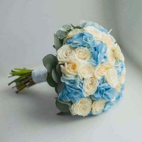 Синий свадебный букет