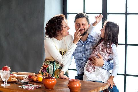 оформление семейной фотосессии в студии
