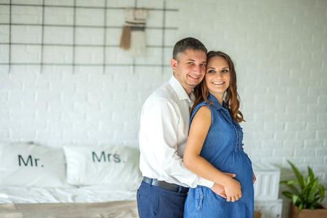 фотосессия беременных с мужем зимой