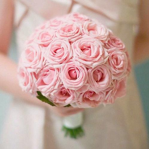 розовый свадебный букет