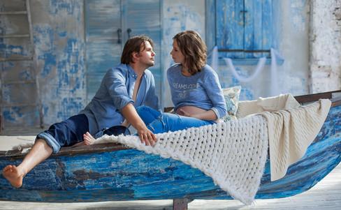 фотосессия беременных с мужем в платье