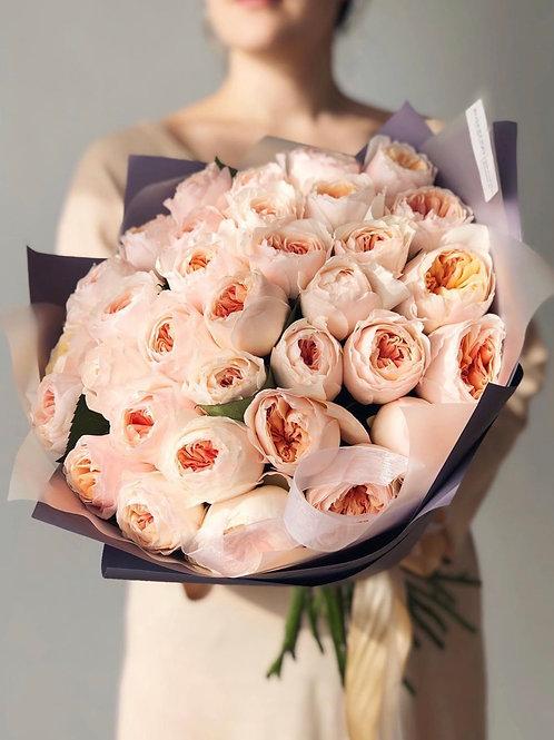 Букет из пионовидных роз Джульетта