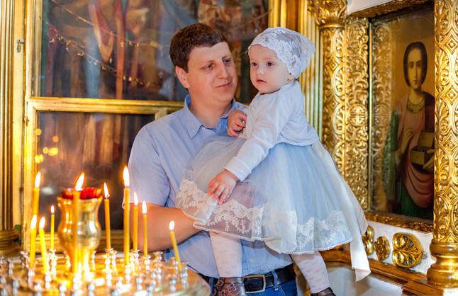 фото крещение детей