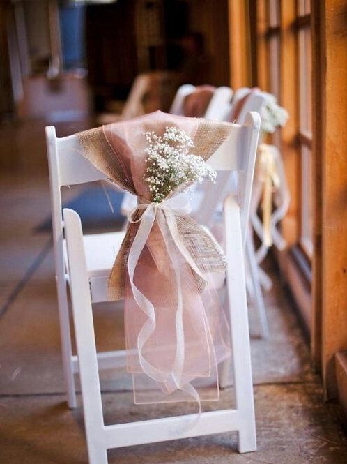 Декор стульев цветами и тканью