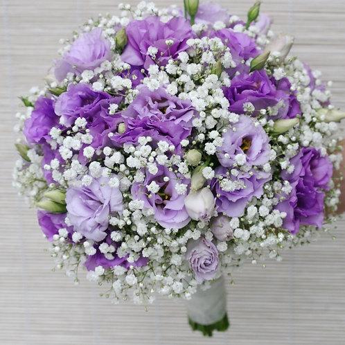 Фиолетовый свадебный букет