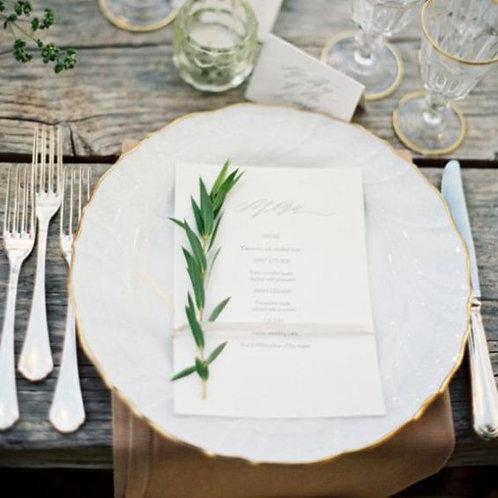Декор тарелки веточкой