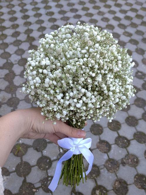 Букет невесты для подружек невесты из гипсофилы
