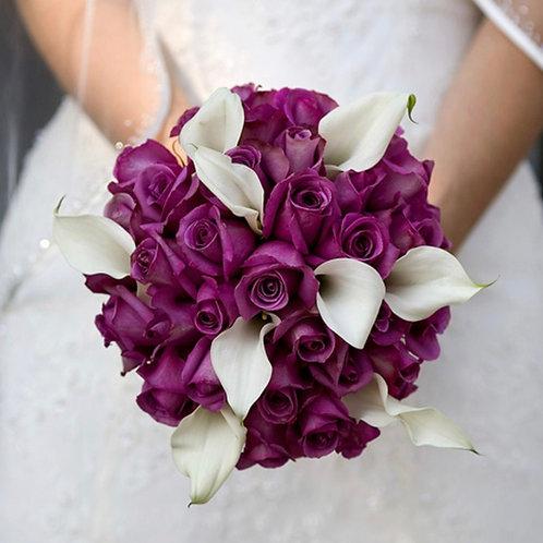 Свадебный букет невесты из роз и калл