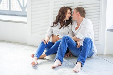 фотосессия беременных с мужем в студии москва