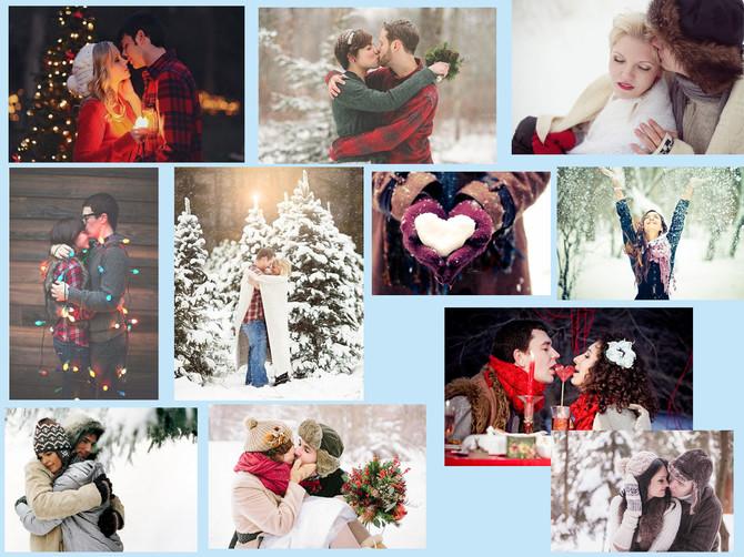 Зимняя фотосессиия для влюбленных - идеи!