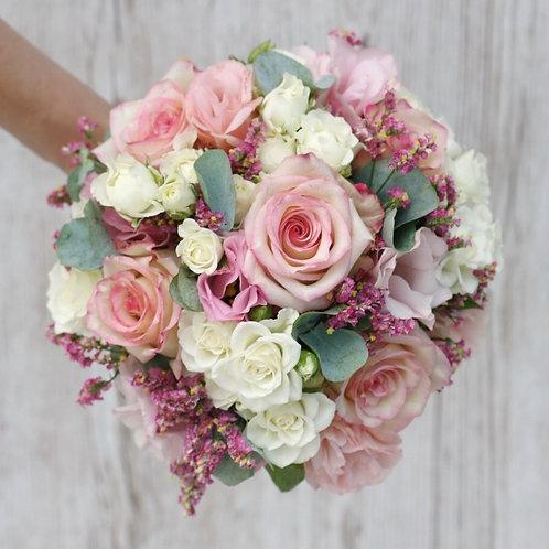 Розовый букет для невесты