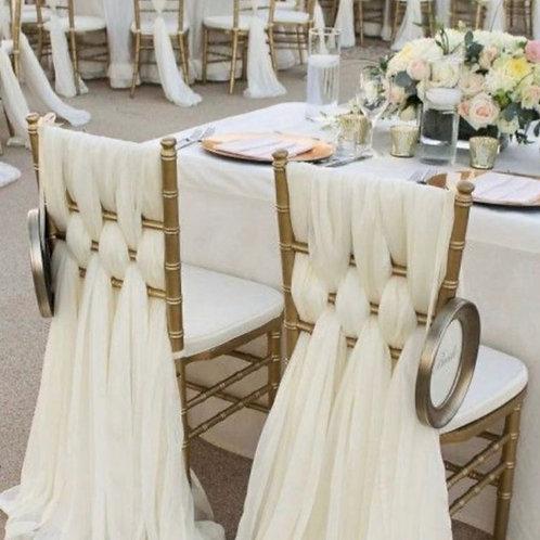 Декор стульев тканями