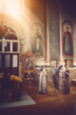 съемка таинства крещения