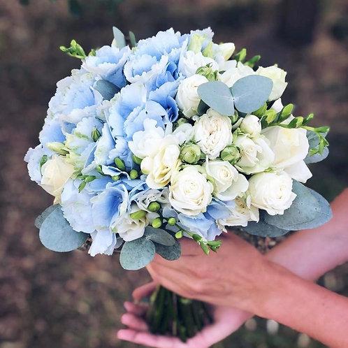 Букет невесты в голубом стиле