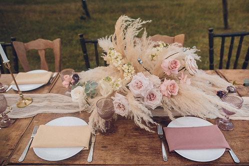 Композиция на свадебный стол с пампасной травой
