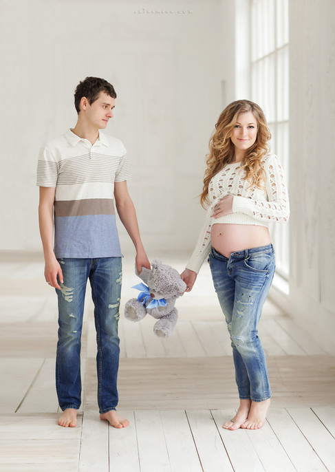 фотосессия беременных с мужем