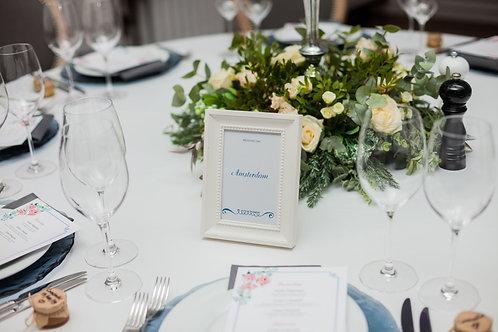 Нумерация столов на свадьбе