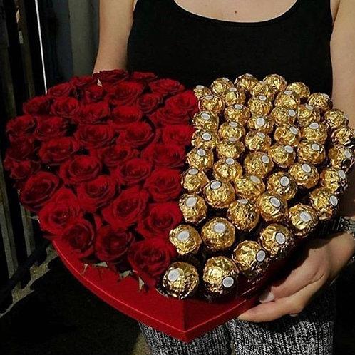 подарок цветы и сладости
