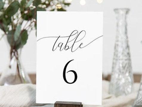 Классические номера на столы