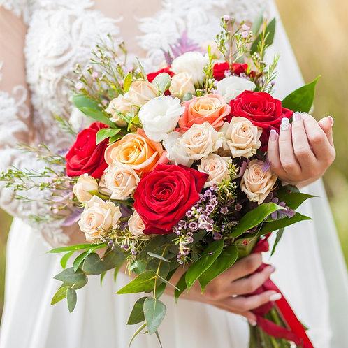 раскидистый свадебный букет