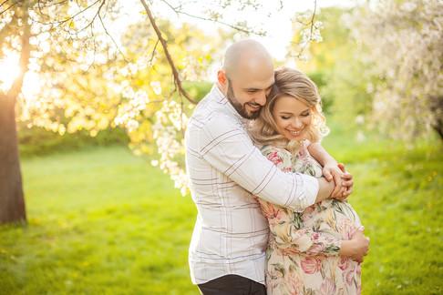 фотосессия беременная с мужем на природе пикник