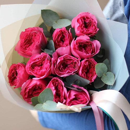 Букет из пионовидных роз Кейт