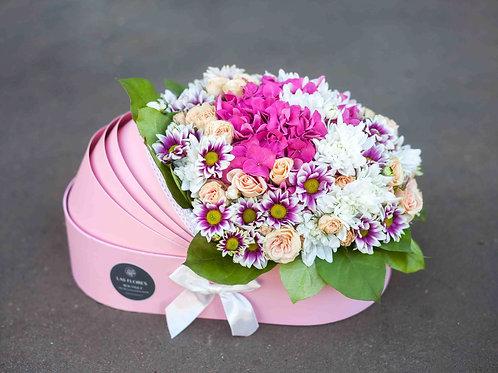цветы в коляске на выписку из роддома
