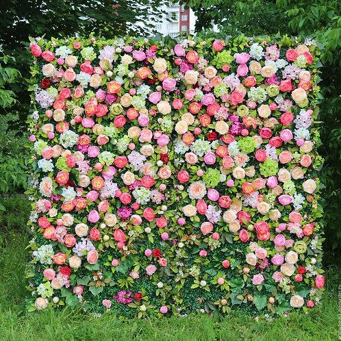 Фото стена из цветов