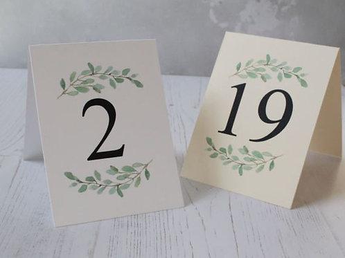 Номерки для свадьбы