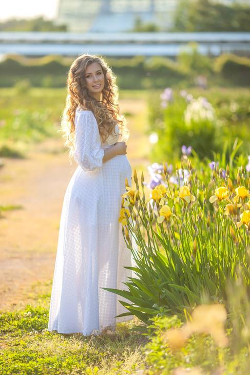 идеи фотосессии для беременных на природе летом