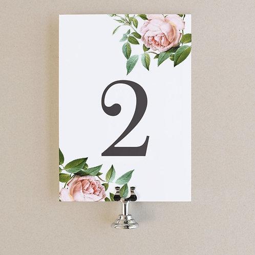 Таблички на столы гостей