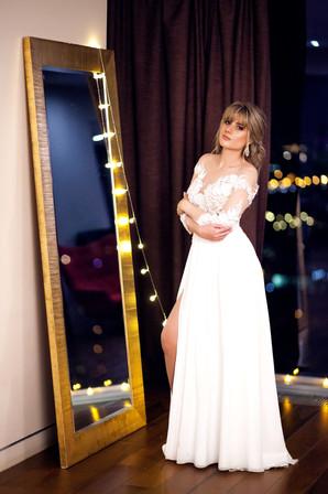 фотосессия в свадебном платье в студии