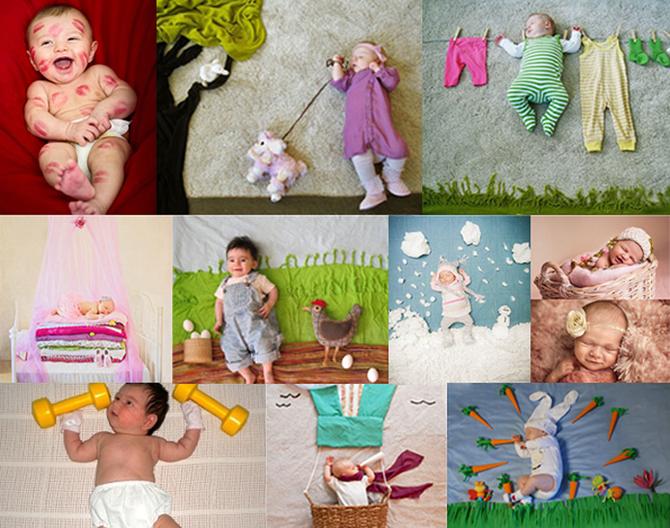 Фотосессия новорожденного малыша в домашних условиях