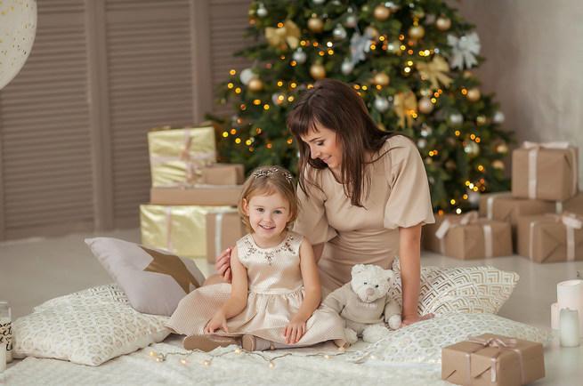новогодняя семейная фотосессия москва