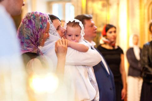 фото с крещения детей