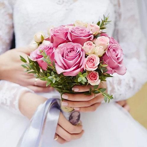 Свадебный букет в розовой гамме
