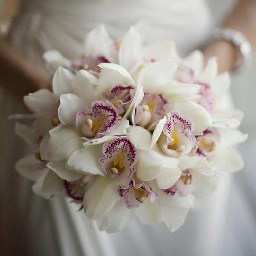 свадебный букет невесты из орхидей фото