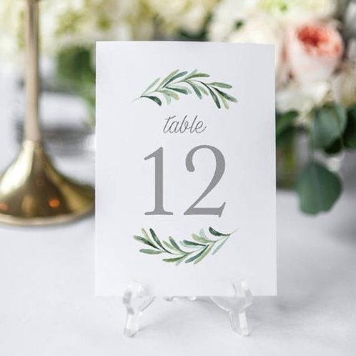 Нумерация для столов