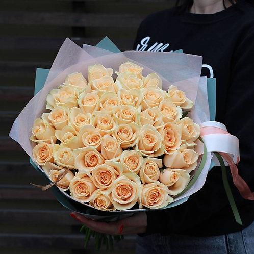 Букет роз Аваланж Пич