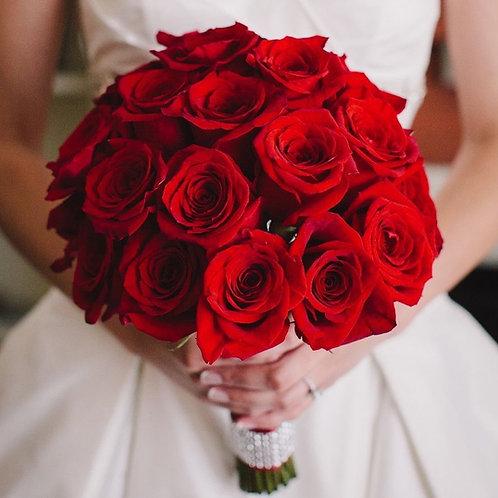 Красный Букет невесты из красных роз