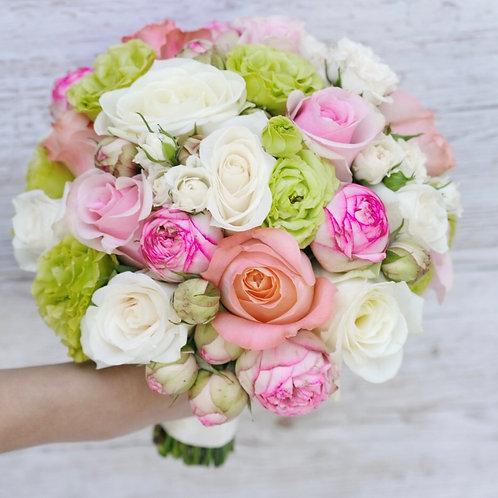 Букет невесты в розовых оттенках