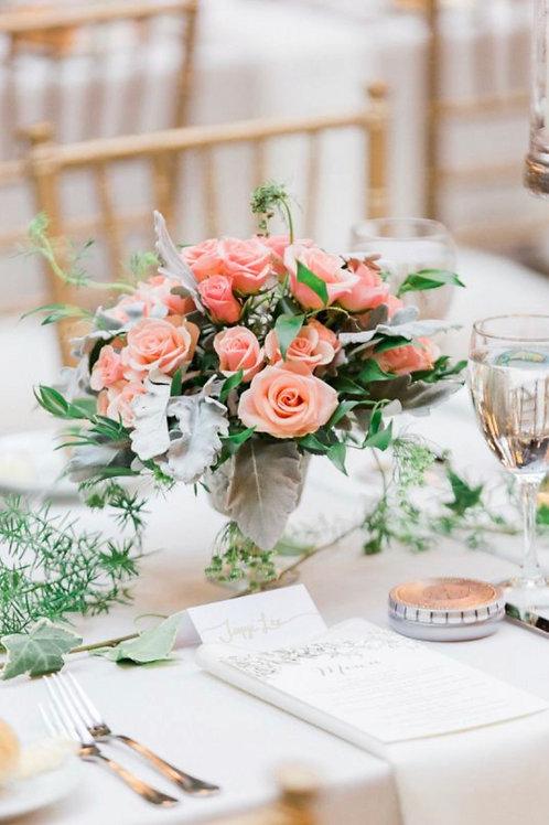 Цветочные композиции на столы для гостей