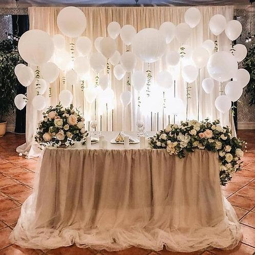 Стена из шаров на свадьбу